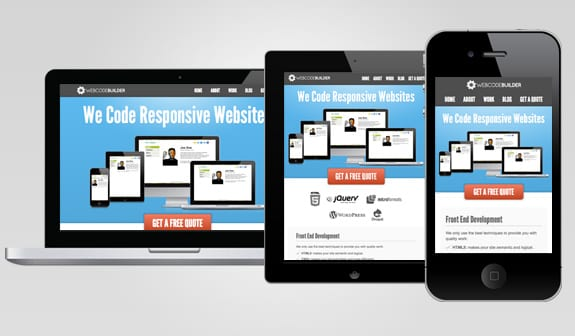 Exemple de site responsive design