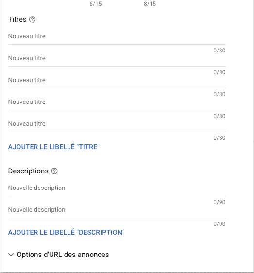 Annonce dynamique du réseau de recherche Google ADS