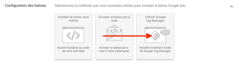 Récupérer l'id de tracking Google ADS pour GTM