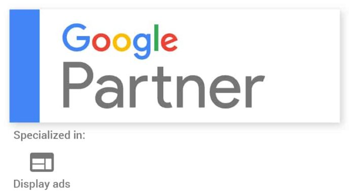 Badge Google Partner AdsearchMedia Montréal