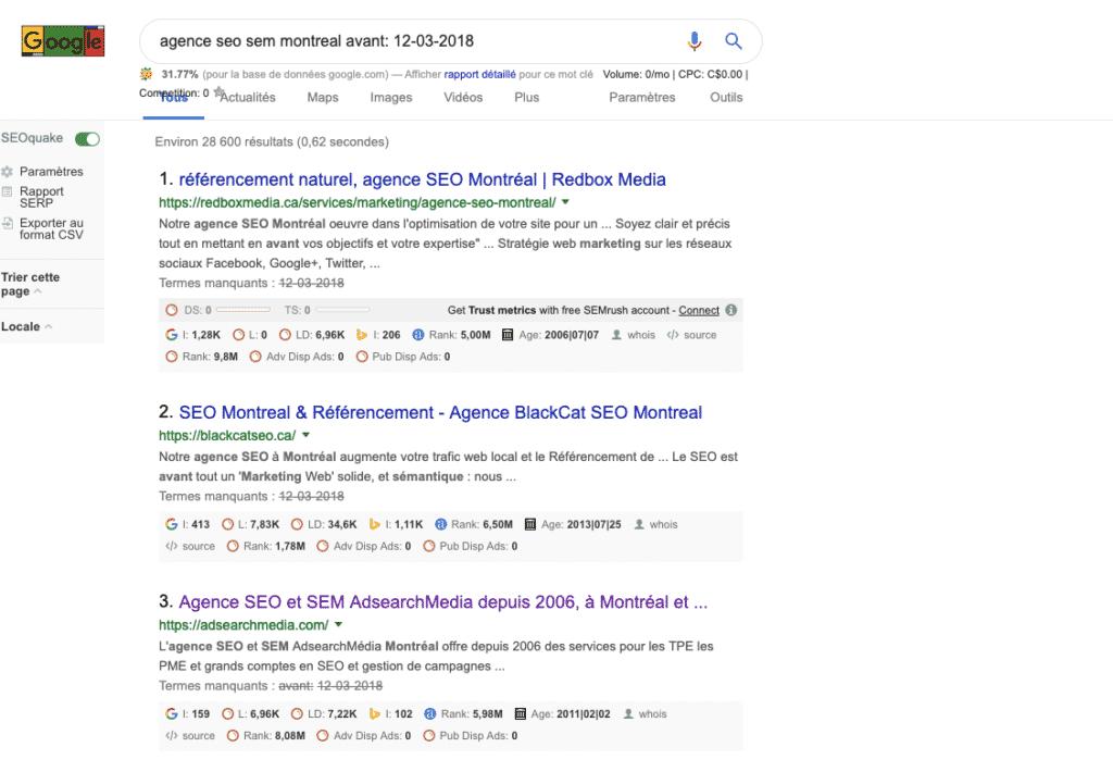 Nouvelle syntaxe google avant-après dans la barre de recherche.