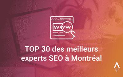 Laurent Lucas et AdsearchMedia dans le Top 30 des meilleurs experts SEO à Montréal