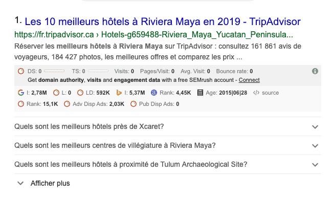 Balise schema.org FAQ Google hôtellerie