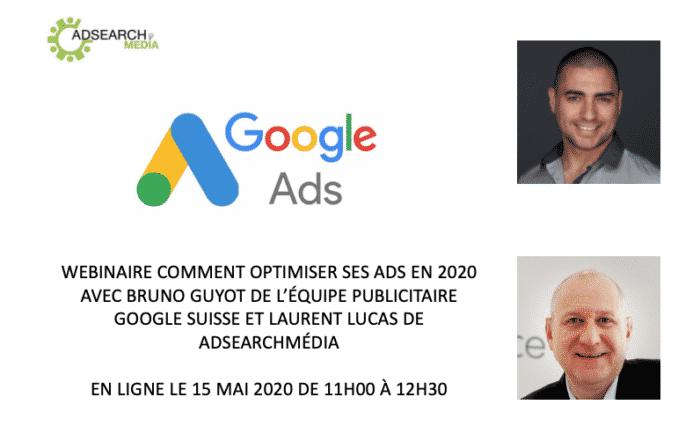 Webinaire Google ADS 5 optimisations et 5 erreurs a éviter pour ses campagnes google Ads