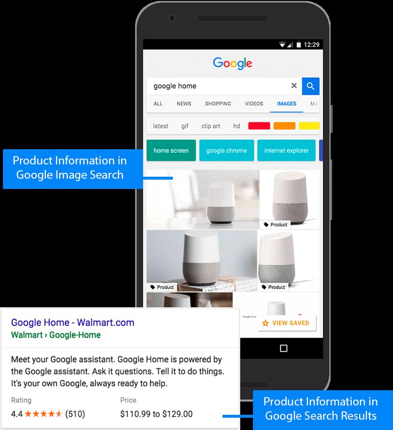 Exemple extrait enrichi Google pour un produit