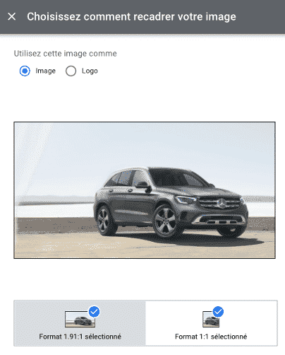 Recadrer vos images pour les annonces display